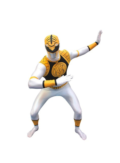 White Power Ranger Adult Costume Morphsuit