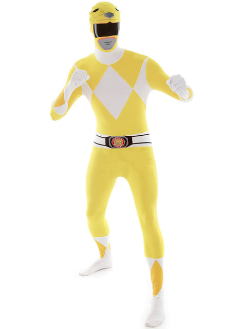 Yellow Power Ranger Adult Costume Morphsuit