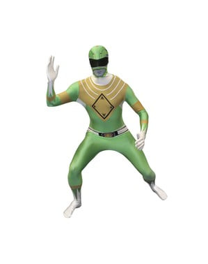 グリーンパワーレンジャーアダルトコスチュームモーフスーツ