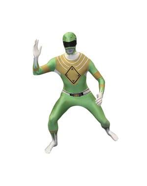 Πράσινο Power Ranger Morphsuit για ενήλικες ενδυμασίες