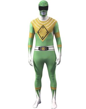 Vihreä Power Ranger -Morphsuit-asu aikuisille