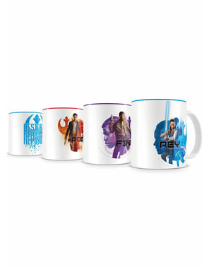 Set of 4 stackable Resistance mini mugs - Star Wars: Episode VIII