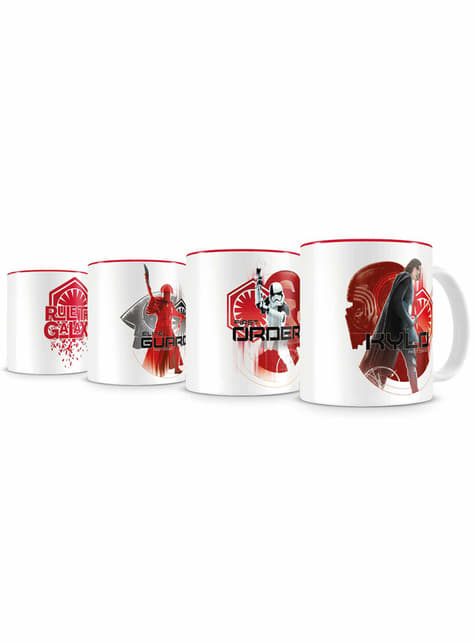 Set 4 minitazas Primera Orden - Star Wars: Episodio VIII