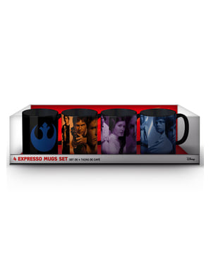 4 Päällekkäin menevää Han, Luke ja Leia -minimukia - Star Wars
