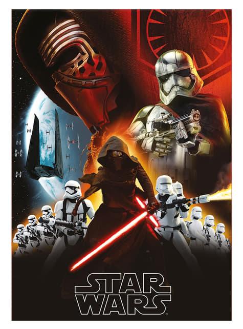 Set 3 minitazas apilables Primera Orden - Star Wars:  Episodio VII - oficial