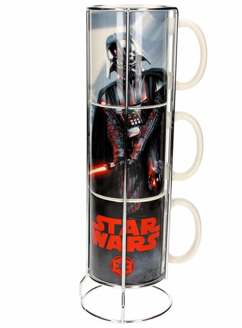 Set 3 minitazas apilables Darth Vader