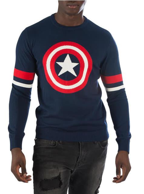 Sweter dla mężczyzn Kapitan Ameryka - Marvel
