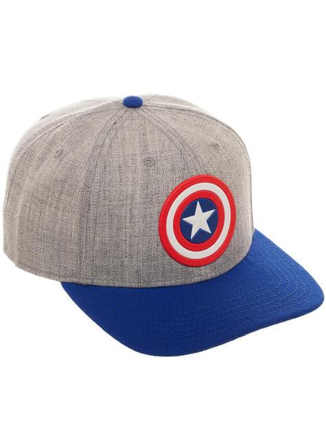 Boné de Capitão América cinzento para adulto