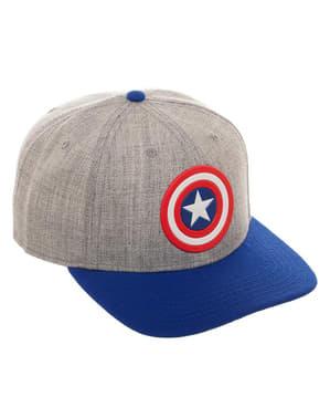 Grå Captain America kasket til voksne
