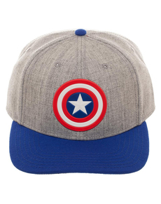 ... Grey Captain America cap for adults 021ad1530665
