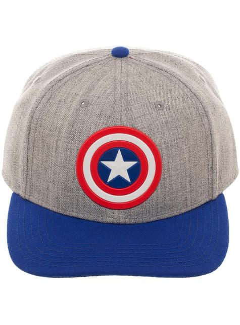 Gorra de Capitán América gris para adulto - oficial