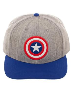 Сива шапка с козирка на Капитан Америка за възрастни