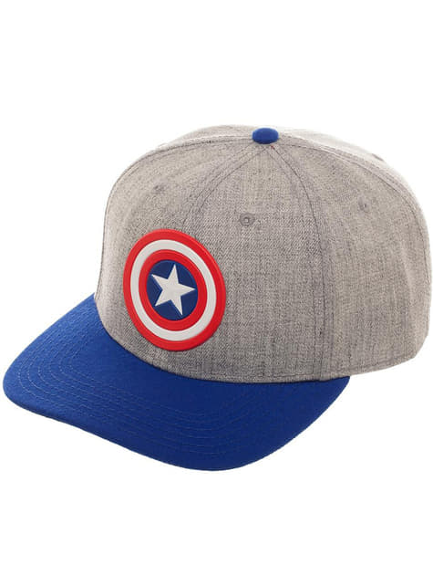 Gorra de Capitán América gris para adulto - barato