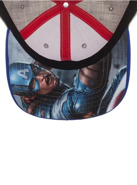 Gorra de Capitán América gris para adulto - comprar