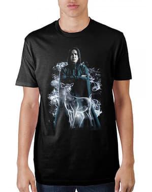 男性のためのSeverus Snape Patronus Tシャツ - ハリーポッター