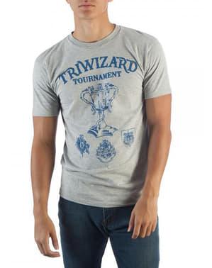 男性用ハリーポッタートリウィザードトーナメントTシャツ