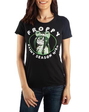 여성을위한 Froppy Rainy Season 영웅 티셔츠 - My Hero Academia