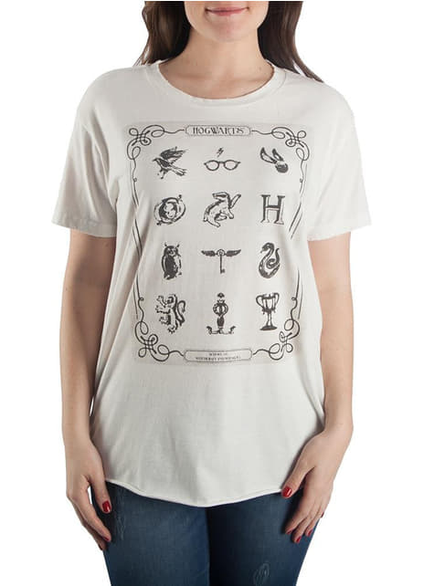 Camiseta de Harry Potter Símbolos para mujer