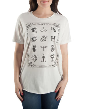 Maglietta di Harry Potter Simboli per donna
