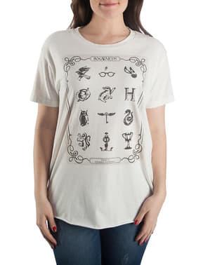 T-shirt de Harry Potter Símbolos para mulher