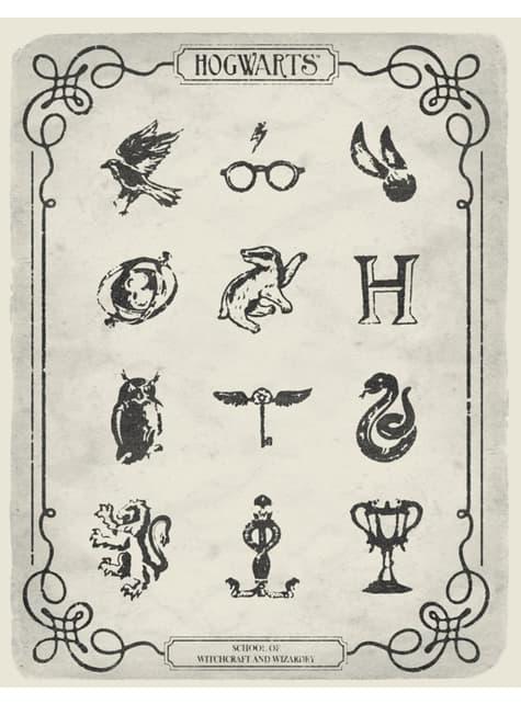 Camiseta de Harry Potter Símbolos para mujer - mujer