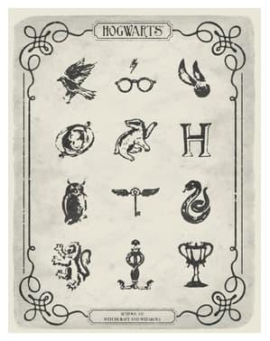 Dámské tričko Harry Potter symboly