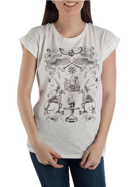 Camiseta de Harry Potter Criaturas mágicas para mujer
