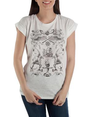 女性用ハリーポッター魔法の生き物Tシャツ