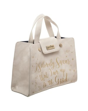 Borsa di Harry Potter Solemnly Swear bianca per donna