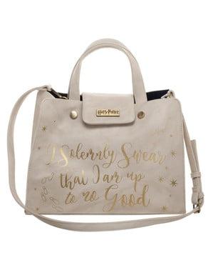 Harry Potter Solemnly Swear Bag til Dame i Hvit