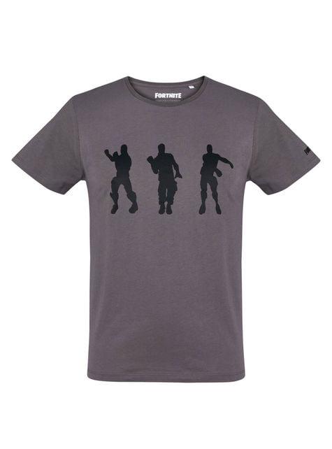 성인을위한 그레이 댄스 티셔츠 - Fortnite