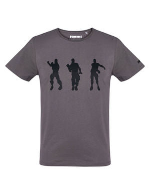 Fortnite Dancing -T-paita Miehille Hiilenvärisenä