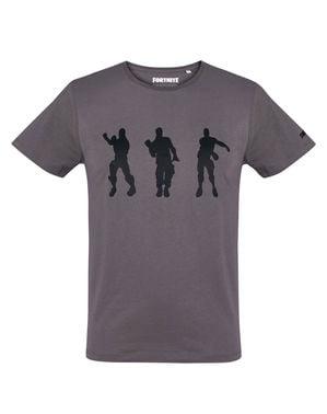T-shirt Fortnite Dancing antracite para homem