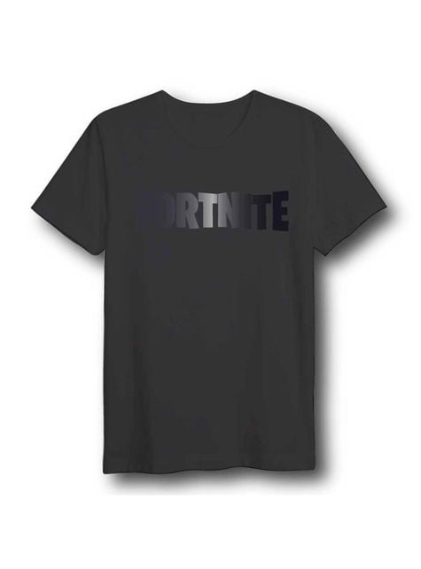 Camiseta Fortnite Logo negra para adulto Unisex