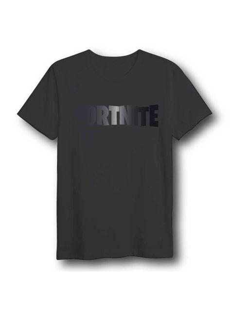 Fortnite Logo Unisex T-Shirt for Adults in Black