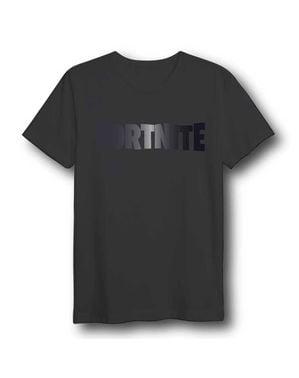 Czarna koszulka unisex logo Fortnite dla dorosłych