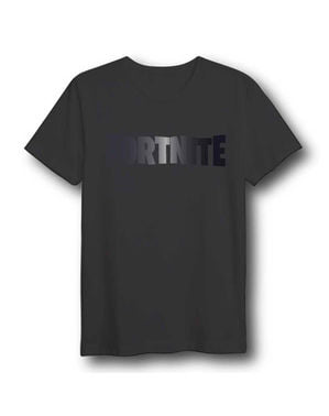 Crna logotip T-shirt za odrasle - Fortnite