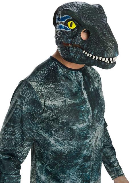 Blauw Velociraptor masker voor volwassenen - Jurassic World
