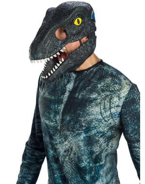 Blue Velociraptor mask for adults - Jurassic World