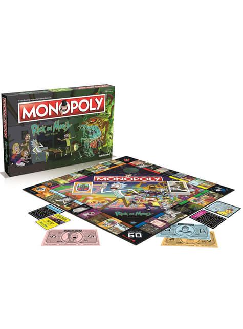 Jogo de mesa Monopoly - Rick e Morty