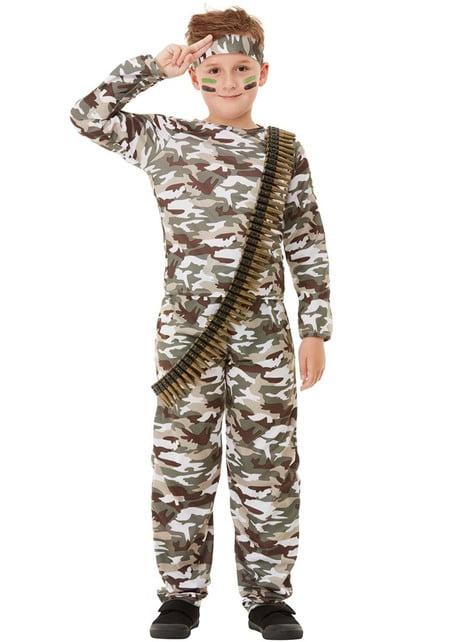 Fato de militar para menino