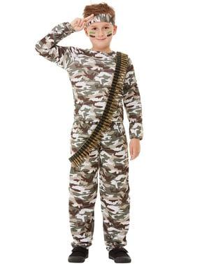 Vojenský kostým pre deti