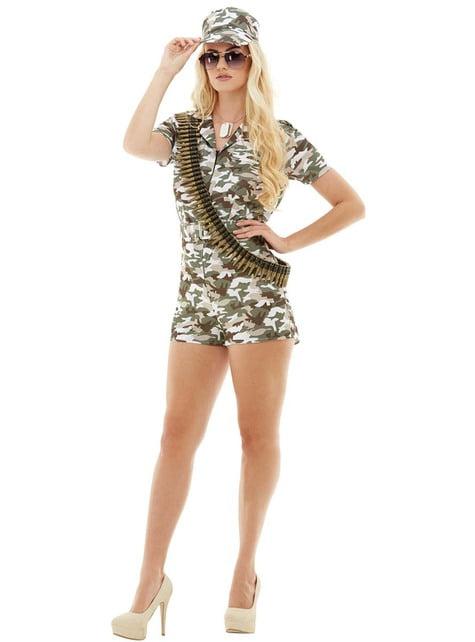 Déguisement militaire femme