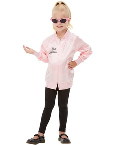 e57b5a66ee1b Classic Pink Lady Jacket for Girls - Grease ...