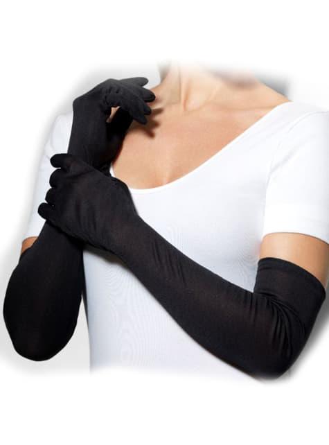 Μακριά Μαύρα Γάντια
