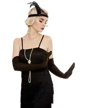 Dlhé čierne rukavice