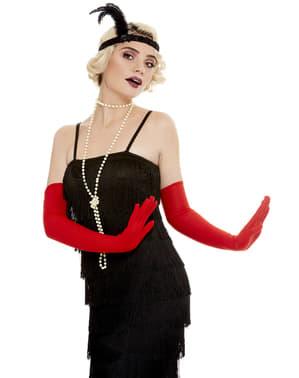 Sarung tangan panjang merah