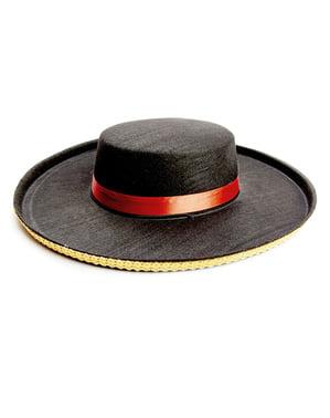 Chapeau espagnol de Cordoue en feutre adulte