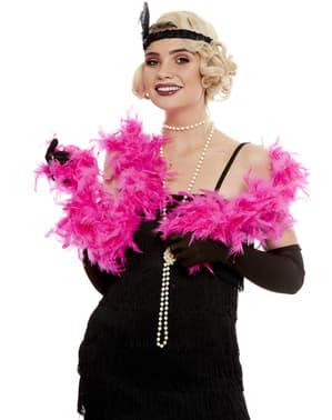 Pinkki Höyhen Boa