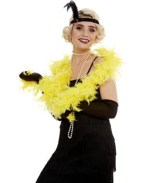 שרשרת נוצות צהובה לנשים